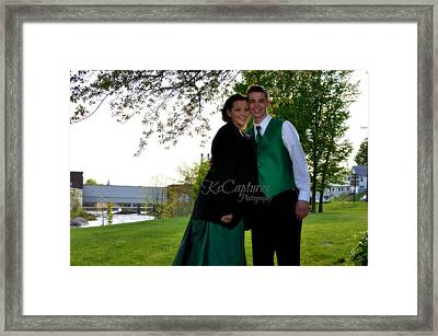 Elaine Is Zac Suit Coat Framed Print by Casey Riitano