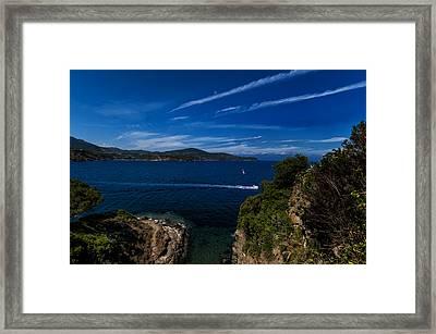 Elba Island - Blue And Green 1 - Blu E Verde 1 - Ph Enrico Pelos Framed Print