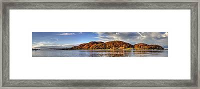 Elberta Michigan In Fall Framed Print by Twenty Two North Photography