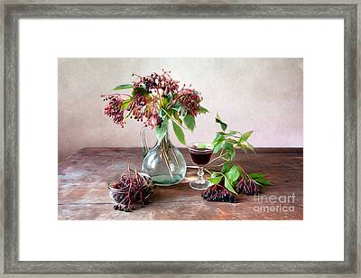 Elderberries 02 Framed Print by Nailia Schwarz