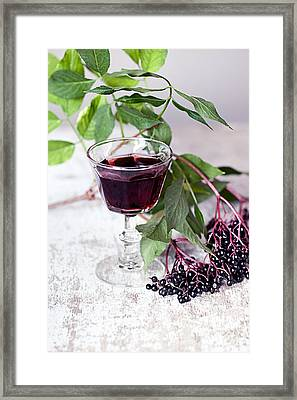 Elderberries 04 Framed Print by Nailia Schwarz
