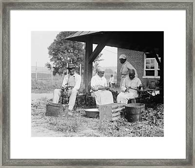 Elderly African Americans Who Were Once Framed Print by Everett