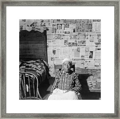 Elderly Former Slave In Her Sitting Framed Print by Everett