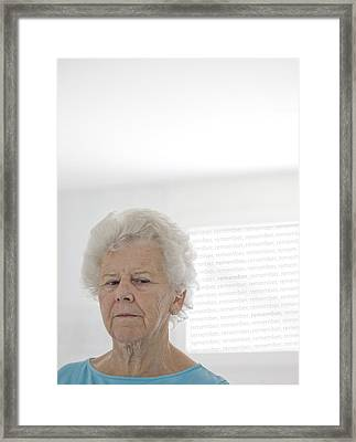 Elderly Woman Framed Print by Cristina Pedrazzini