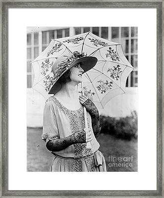 Eleannor Boardman With Parasol Framed Print by Padre Art