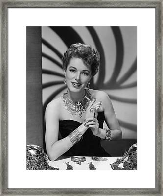 Eleanor Parker, Ca.late 1940s Framed Print by Everett