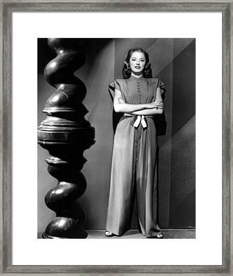 Eleanor Parker, Wearing A One-piece Framed Print by Everett