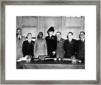 Eleanor Roosevelt Chaired The United Framed Print by Everett