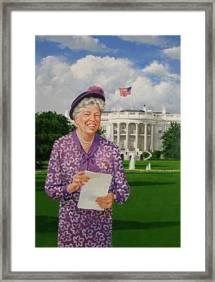 Eleanor Everywhere Framed Print by Cliff Spohn