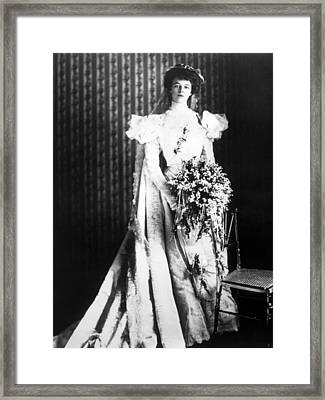 Eleanor Roosevelt In Her Wedding Dress Photograph By Everett