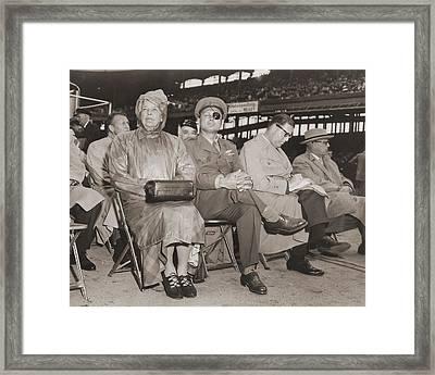 Eleanor Roosevelt Moshe Dyan Abba Eban Framed Print