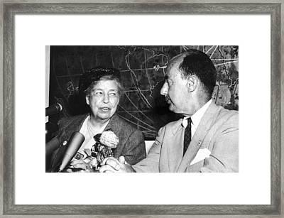 Eleanor Roosevelt Supported Adlai Framed Print by Everett