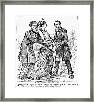 Election Cartoon, 1876 Framed Print by Granger