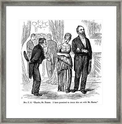 Election Cartoon, 1877 Framed Print by Granger