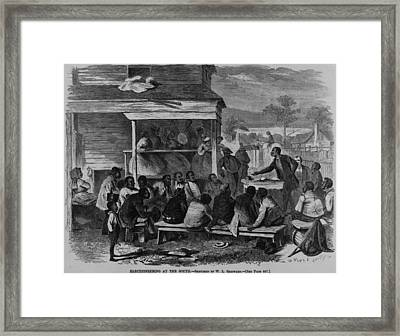 Electioneering In The South In Summer Framed Print by Everett