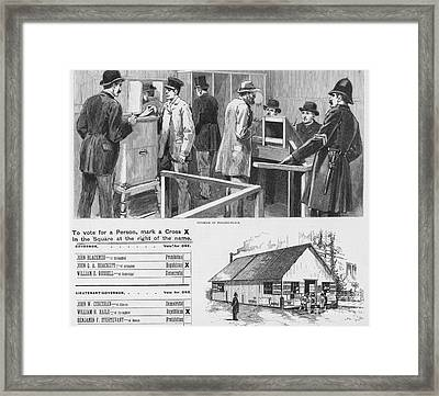 Elections: Voting Framed Print by Granger