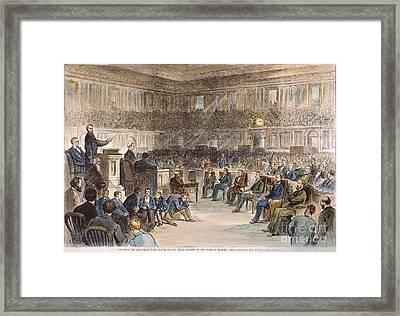 Electoral Commission, 1877 Framed Print by Granger