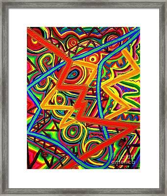 Electric Avenue Framed Print by Brenda Marik-schmidt