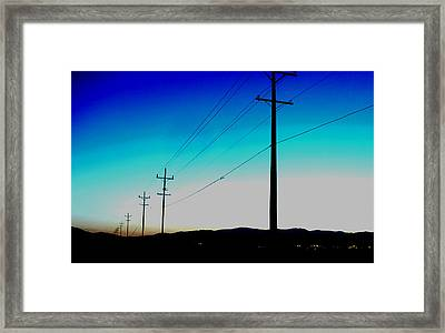 Electric Blue Framed Print by Chad Rice
