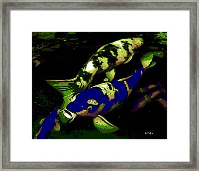 Electric Blue Framed Print by George Pedro