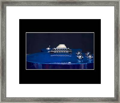 Electric Blue Guitar Framed Print by Trudy Wilkerson