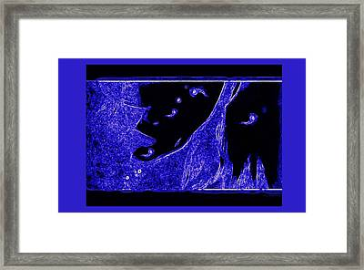 Electric Blue Framed Print