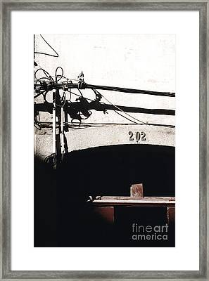 Framed Print featuring the photograph Electric Cables by Agnieszka Kubica