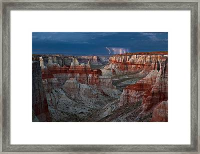 Electric Canyon Framed Print