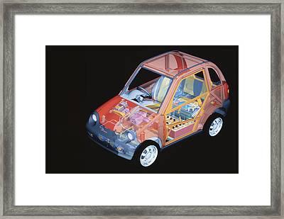 Electric Car, Artwork Framed Print by Volker Steger