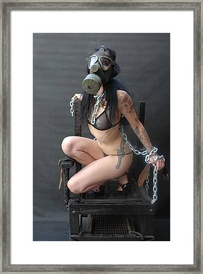 Electric Chair - Bound N Chained Framed Print by Liezel Rubin
