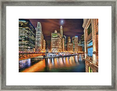Electric City Framed Print by Joel Olives