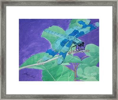 Electric Dragon Framed Print by Jennifer Taylor Rogerson