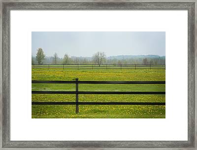 Electric Field In A Farmers Field Framed Print