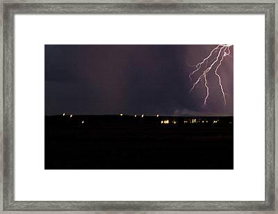 Electric Fingers Framed Print by Joshua Dwyer