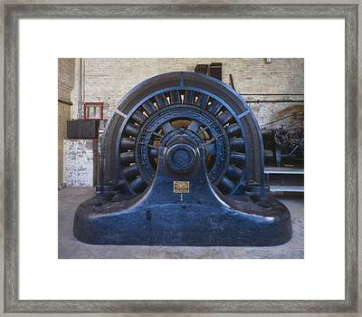 Electric Generator In The Folsom Framed Print by Everett