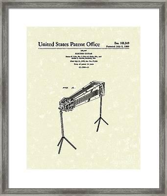 Electric Guitar 1960 Patent Art  Framed Print