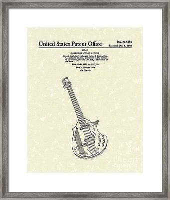 Electric Guitar 1968 Patent Art  Framed Print