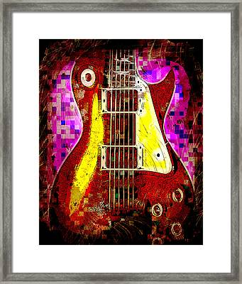 Electric Guitar Abstract Framed Print by David G Paul