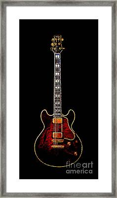 Electric Guitar . Painterly Framed Print by Wingsdomain Art and Photography