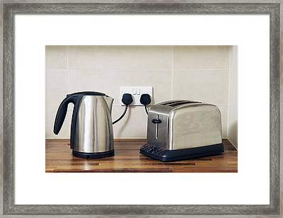 Electric Kettle And Toaster Framed Print by Johnny Greig