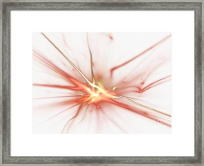 Framed Print featuring the digital art Electric by Kim Sy Ok