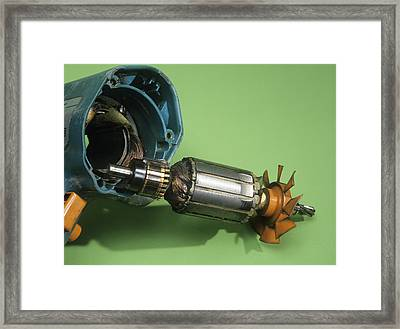 Electric Motor Framed Print by Andrew Lambert Photography