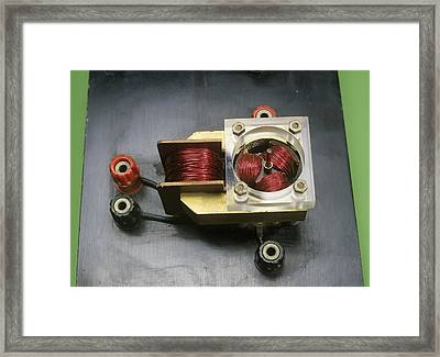 Electric Motor Coils Framed Print by Andrew Lambert Photography