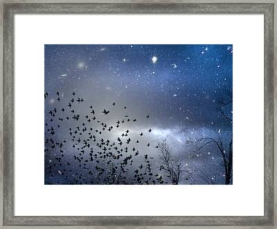 The Night Was Electrically Charged Framed Print