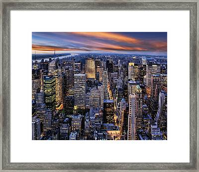 Electric Nyc Framed Print by Kelley King