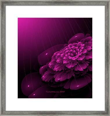 Electric Rain Framed Print