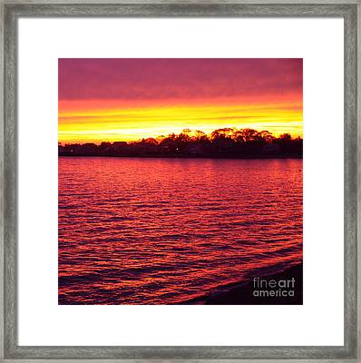 Framed Print featuring the photograph Electric Sea Series by Cindy Lee Longhini