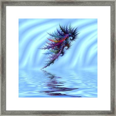 Electric Seahorse Framed Print by Sharon Lisa Clarke