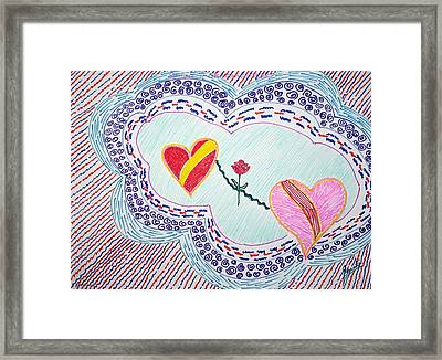 Electric Serenity Framed Print by Sonali Gangane