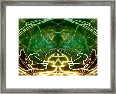 Framed Print featuring the digital art Electric Storm by Ginny Schmidt